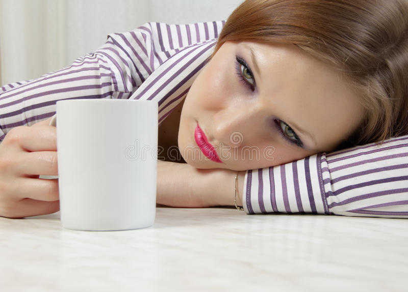 After alcohol drinking stock image