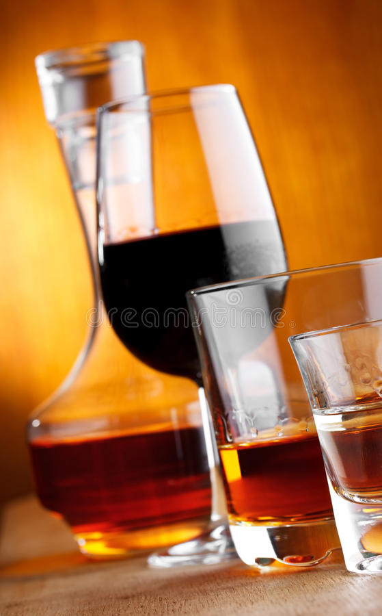 Alcohol drinks stock photography