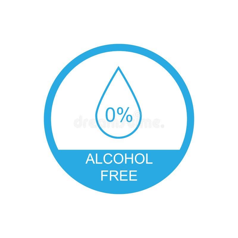 Alcohol free icon symbol. Vector eps10 vector illustration