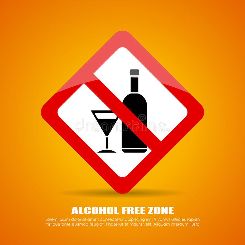 Alcohol free zone vector illustration
