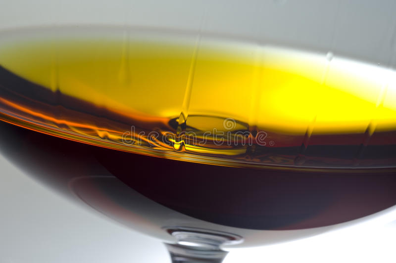 Alcohol in glas royalty-vrije stock foto