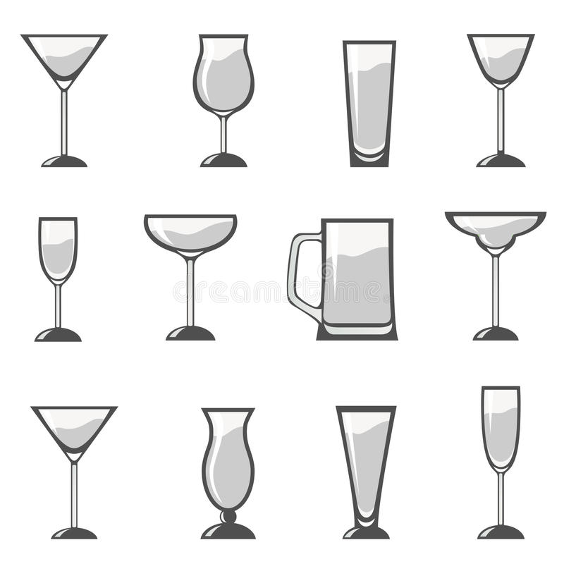 Alcohol Glass Set Royalty Free Stock Photography