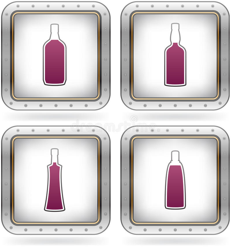Download Alcohol glasses stock vector. Illustration of icon, chrome - 21268012