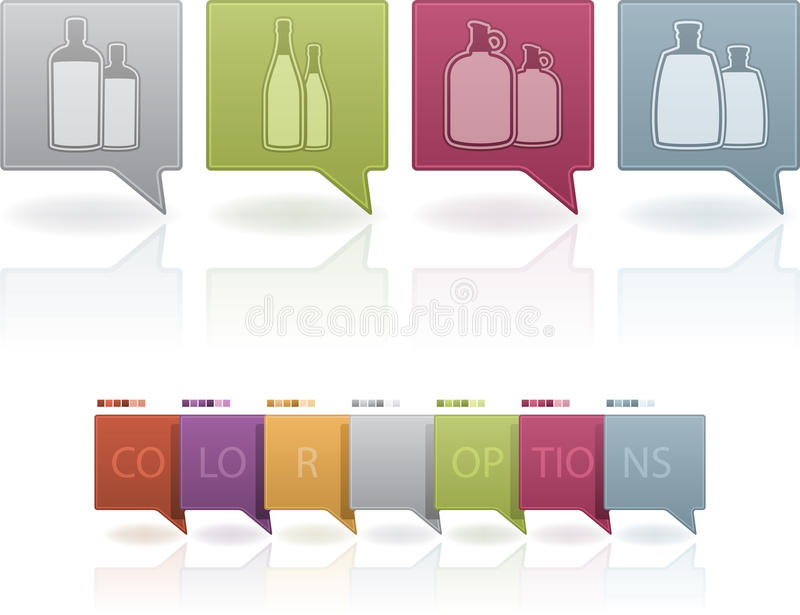 Download Alcohol glasses stock vector. Image of bourbon, brown - 23647094