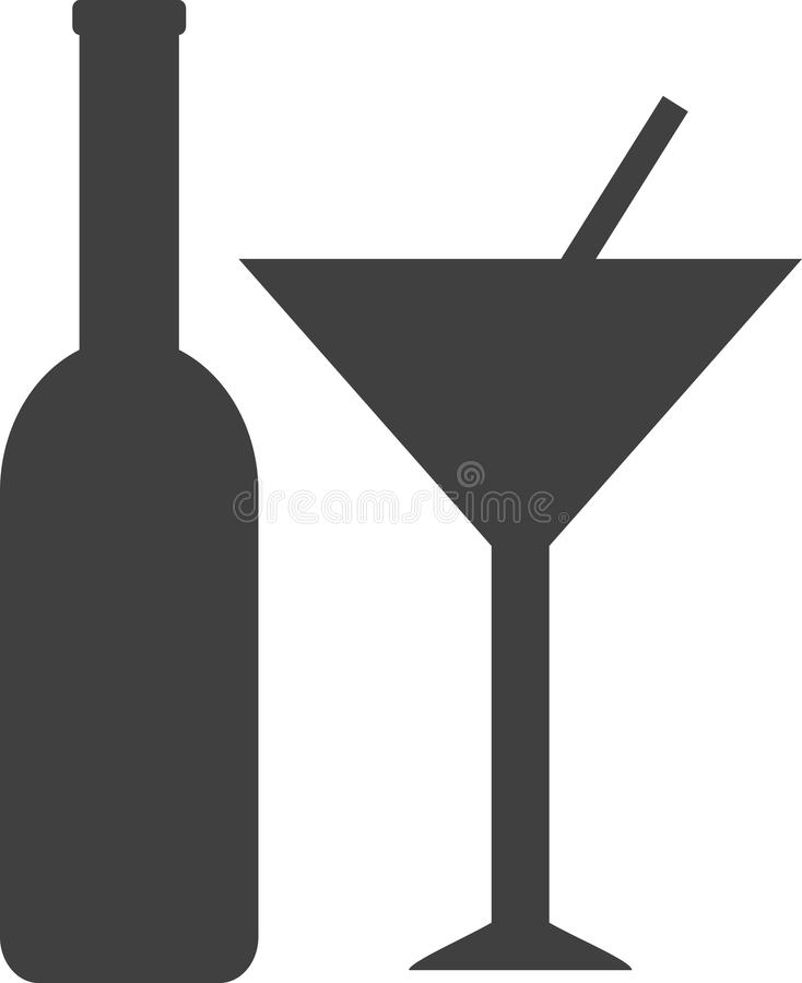 Alcohol Icon. In simple vector style royalty free illustration
