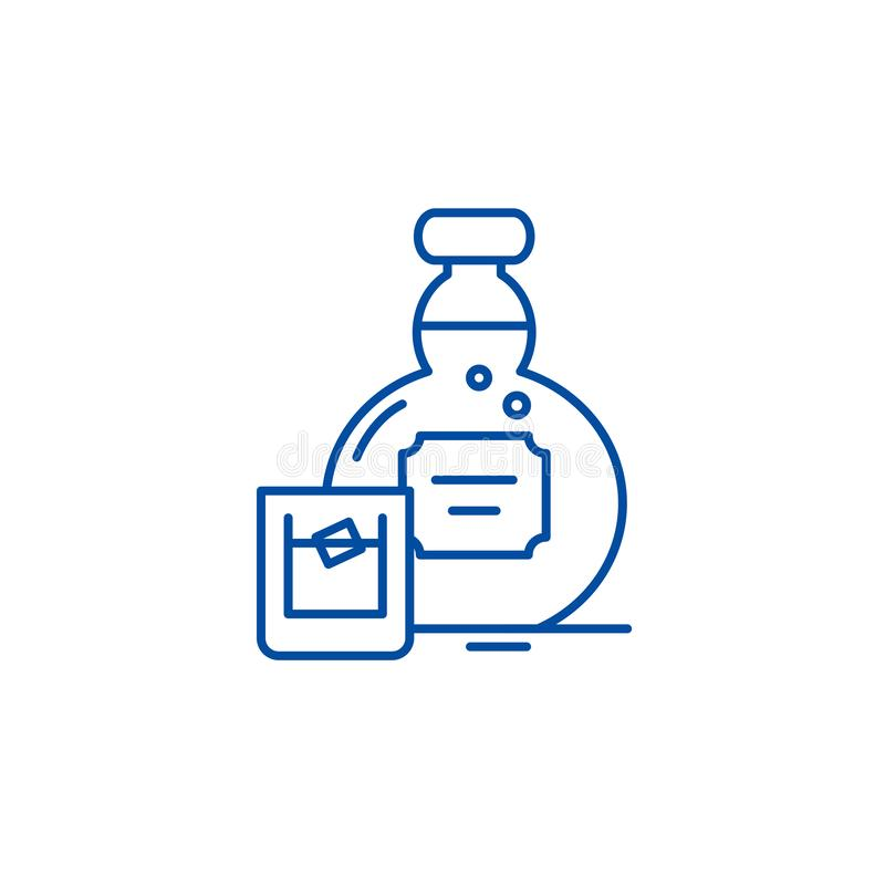 Alcohol line icon concept. Alcohol flat  vector symbol, sign, outline illustration. royalty free illustration