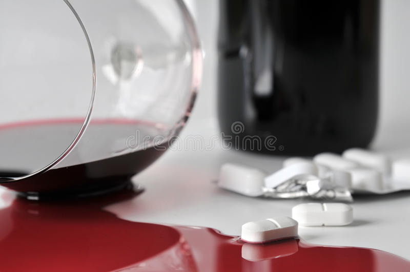 Alcohol And Pills Stock Image