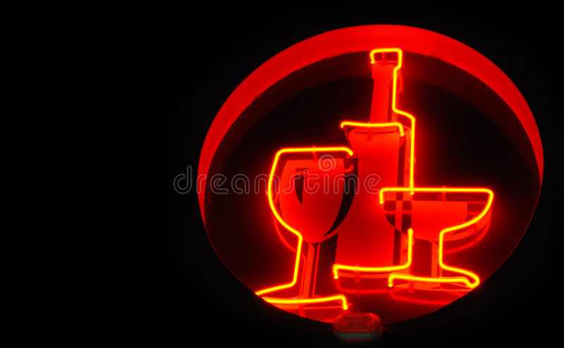 Alcohol sign stock photo