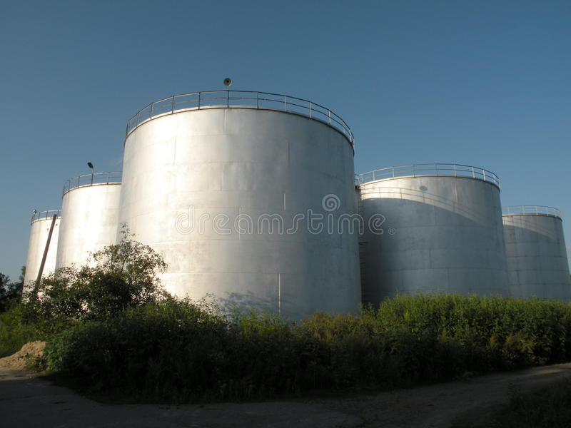 Alcohol tank stock image