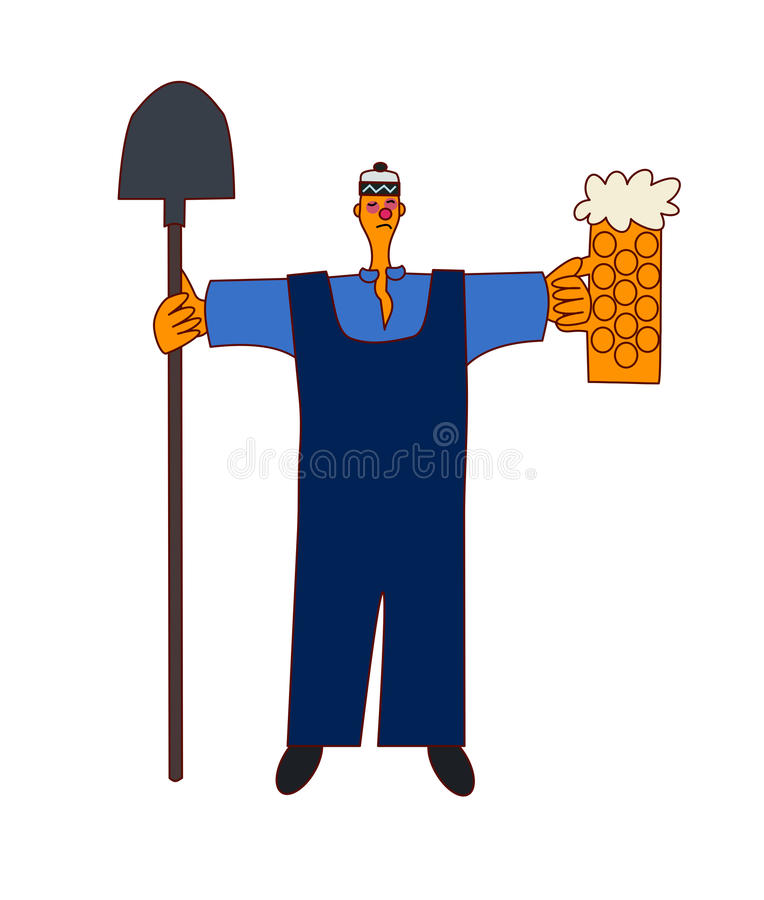 Alcohol on workplace - construction worker stock photo