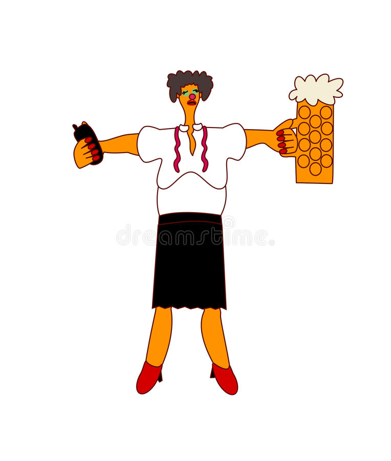 Alcohol on workplace - woman manager stock photo