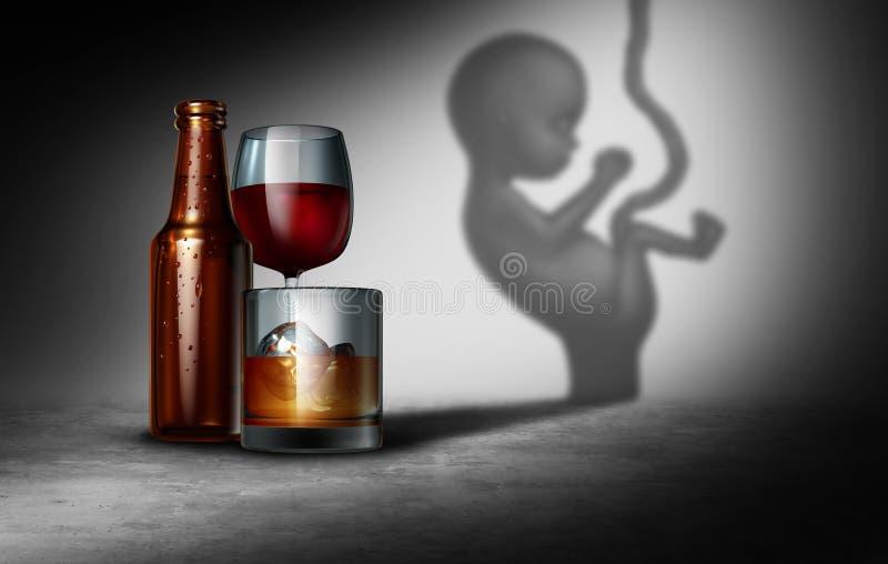 Alcohol y embarazo ilustración del vector