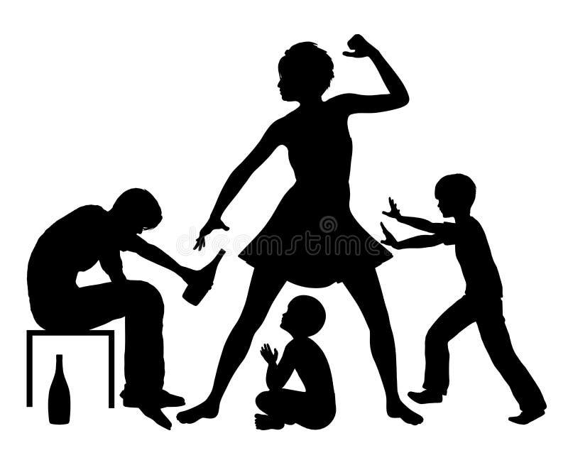 Alcohol y violencia en el hogar libre illustration