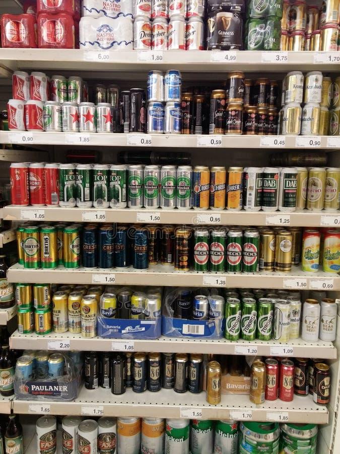 Alcoholbier en cider royalty-vrije stock foto's