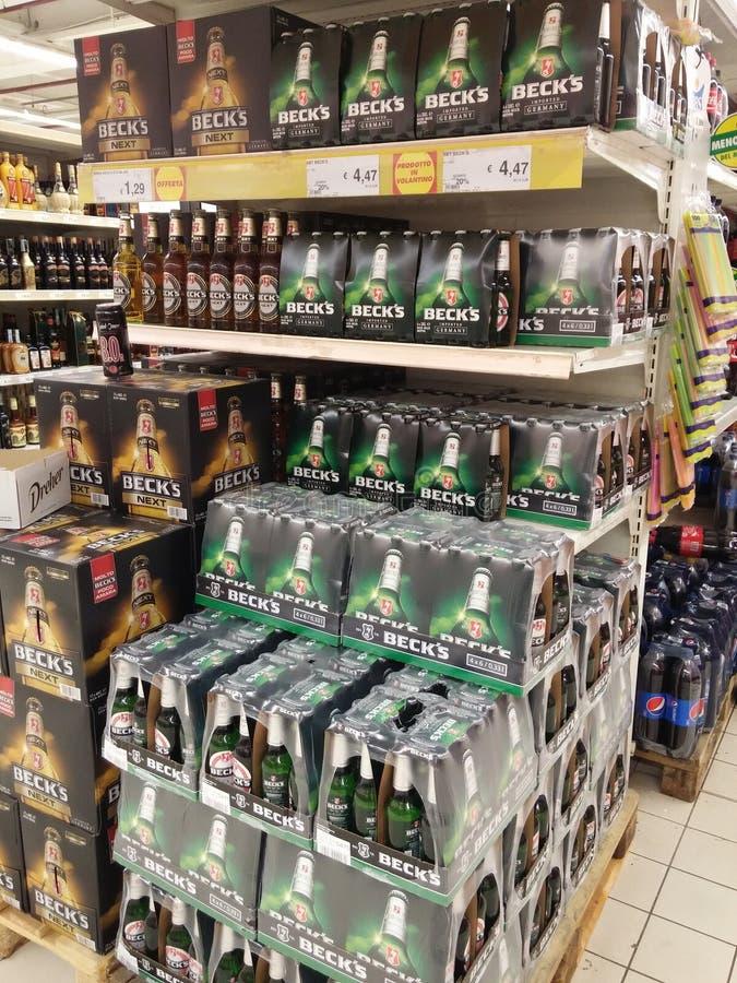 Alcoholbier en cider stock afbeelding
