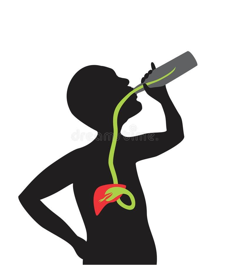 Alcoholic vector illustration