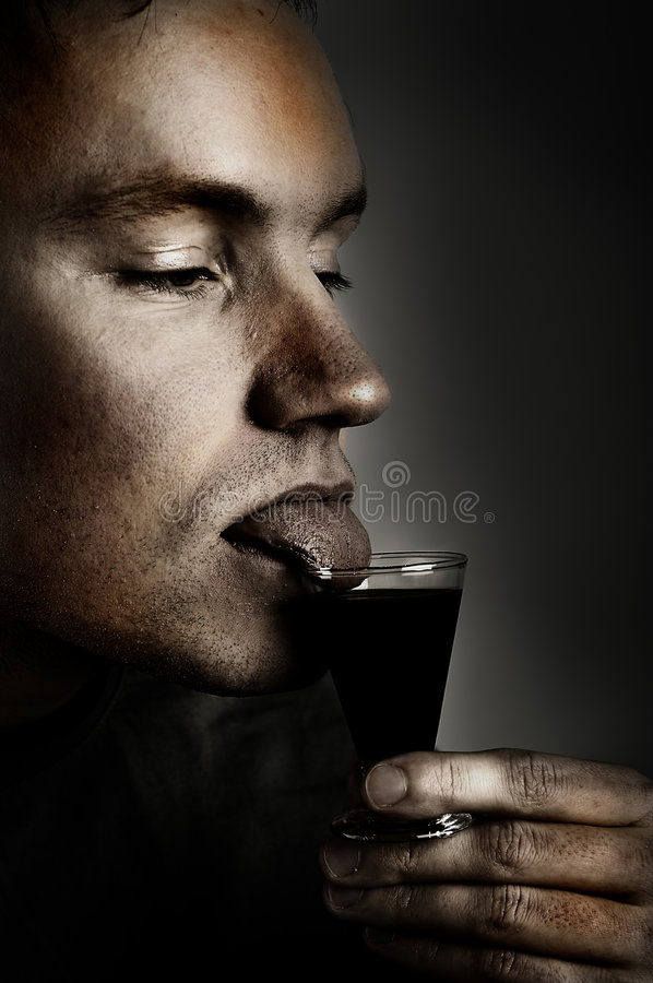 Download Alcoholic stock photo. Image of brown, glass, unhappy - 1715266