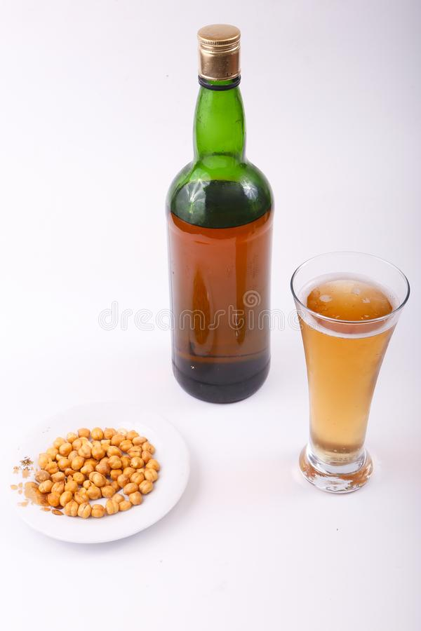 Alcoholic beverages. Variety of different Alcoholic beverages bottles stock photography