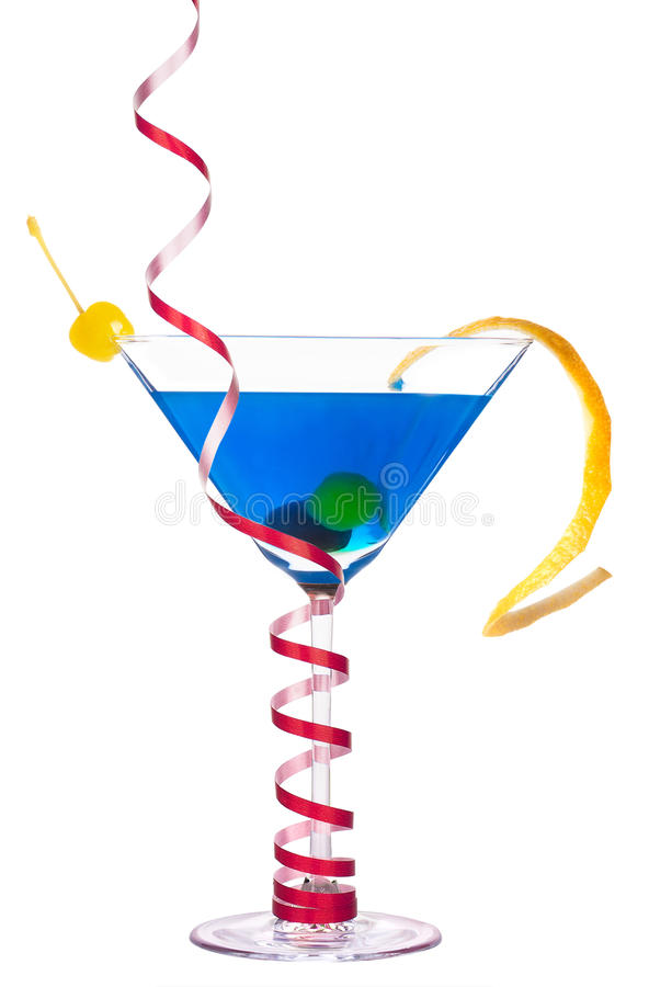 Alcoholic cocktail with christmas decoraion royalty free stock image