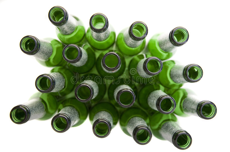 Alcoholic Drinks - Empty Beer Bottles stock photography