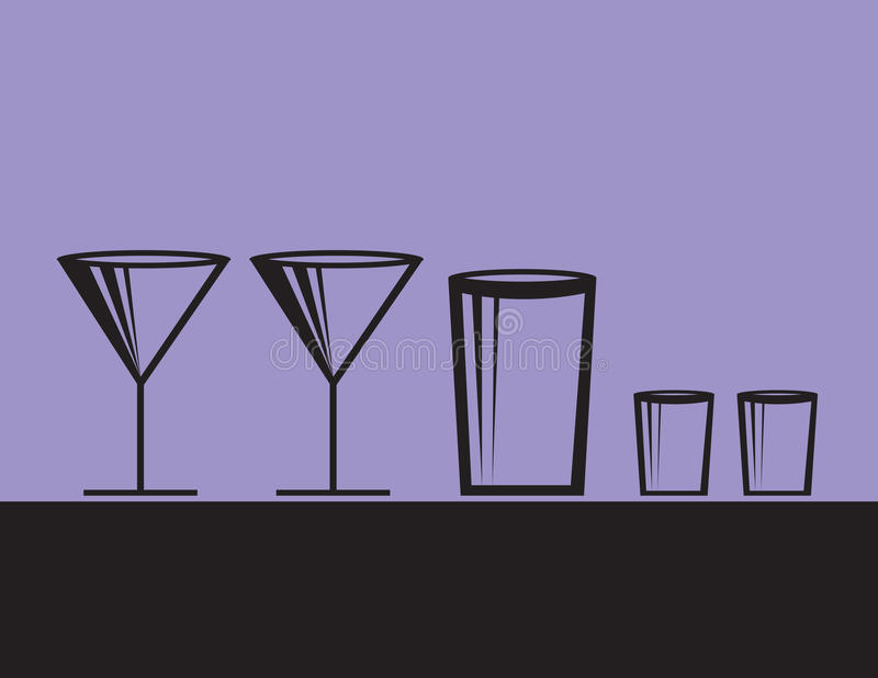 Alcoholic Drinks Modern Stock Photos