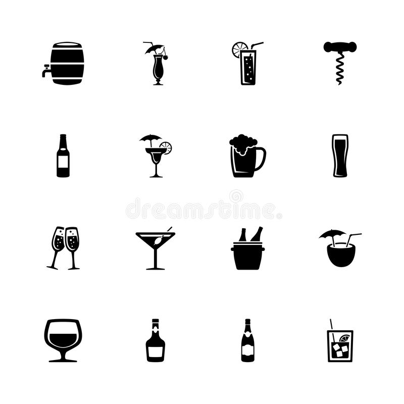 Free Alcoholic - Flat Vector Icons Stock Images - 102963534
