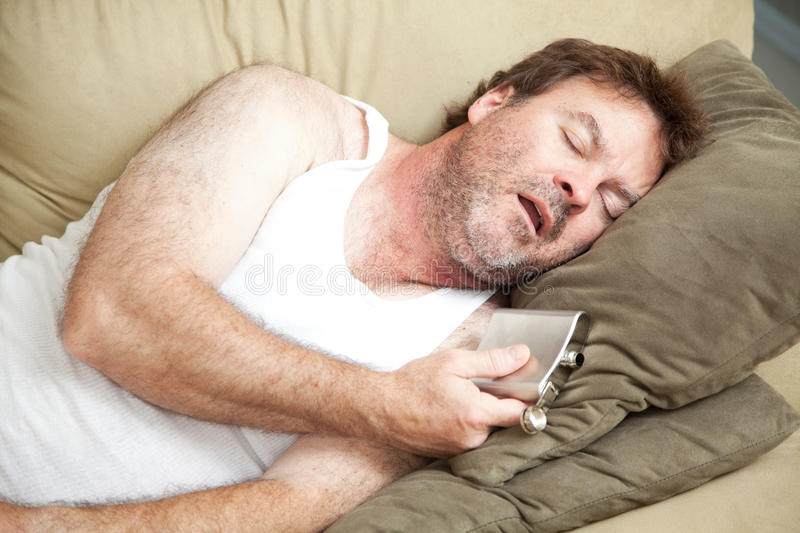 Alcoholic Passed Out Drunk royalty free stock images