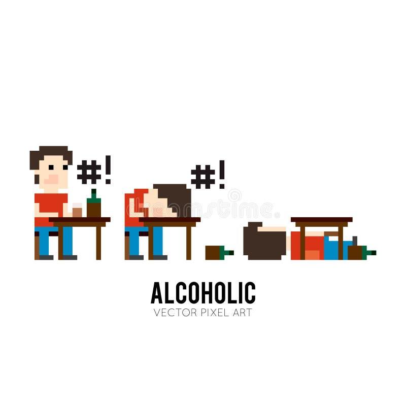 Alcoholic stock illustration