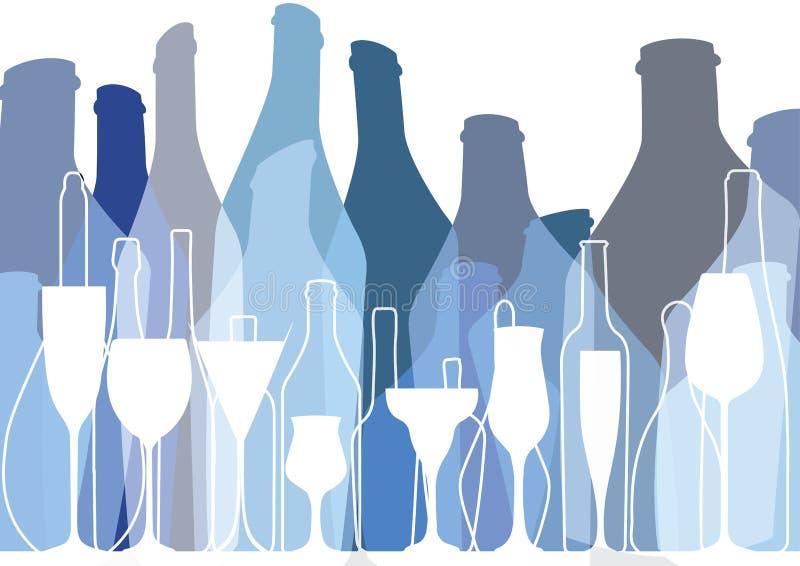 Alcoholisch Barmenu vector illustratie