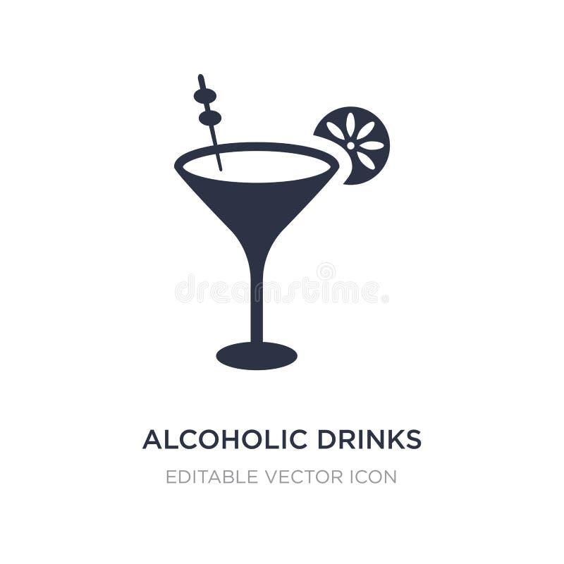 alcoholisch drankenpictogram op witte achtergrond Eenvoudige elementenillustratie van Voedselconcept stock illustratie