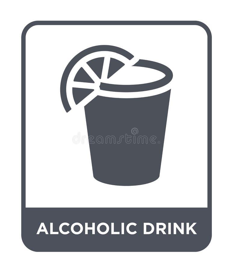 alcoholisch drankpictogram in in ontwerpstijl alcoholisch die drankpictogram op witte achtergrond wordt geïsoleerd alcoholisch ee vector illustratie