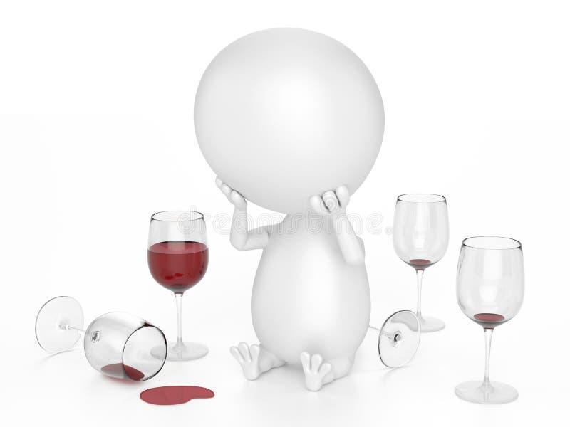 Alcoholisch Karakter stock illustratie