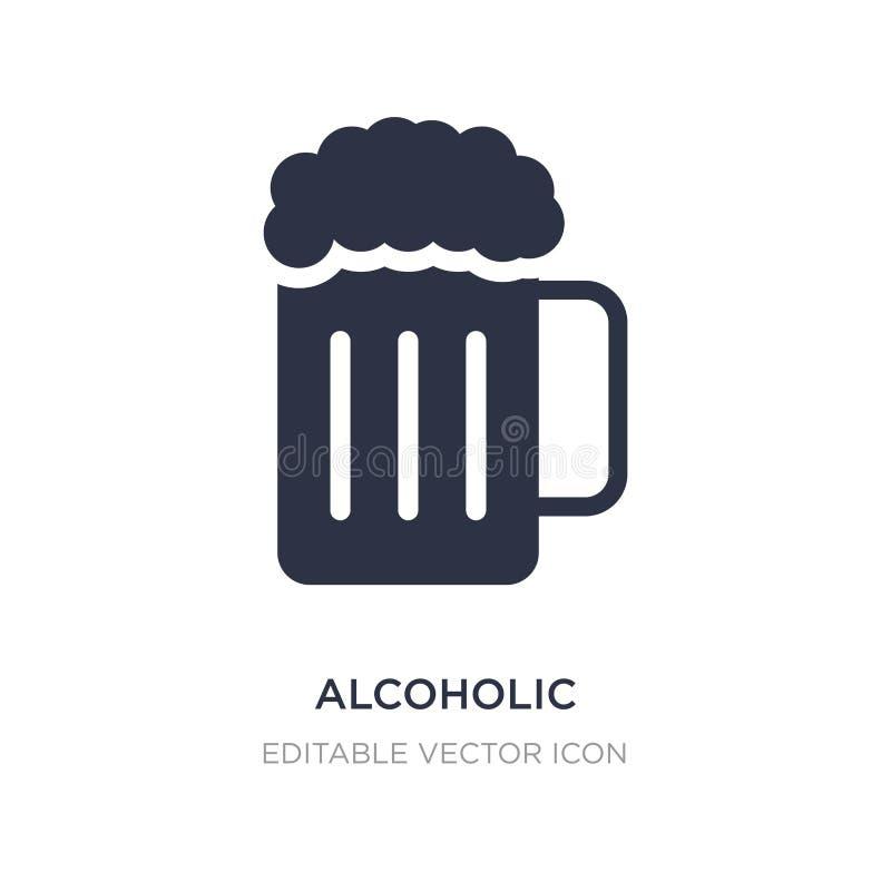 alcoholisch pictogram op witte achtergrond Eenvoudige elementenillustratie van Voedselconcept stock illustratie