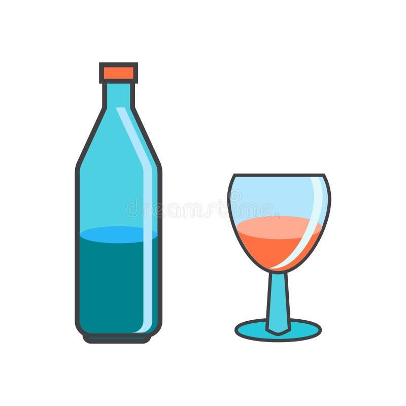 Alcoholisch pictogram vectordieteken en symbool op witte achtergrond, Alcoholisch embleemconcept wordt geïsoleerd vector illustratie