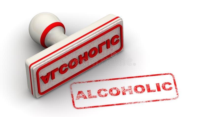alcoholisch Verbinding en afdruk stock illustratie