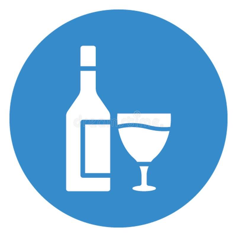 Alcoholische drank, alcoholisch drank Vectorpictogram dat gemakkelijk kan uitgeven royalty-vrije illustratie