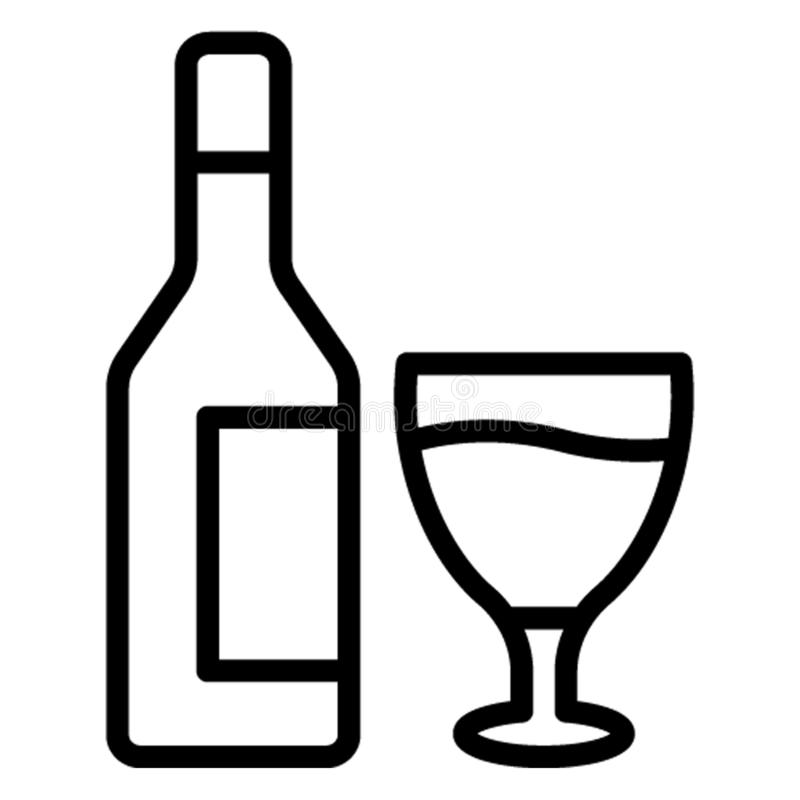 Alcoholische drank, alcoholisch drank Vectorpictogram dat gemakkelijk kan uitgeven vector illustratie