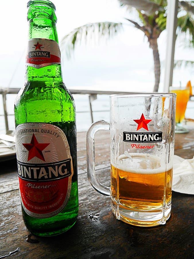Alcoholische drank in Bali, Bintang, bier Bintang, rust in Bali royalty-vrije stock foto's