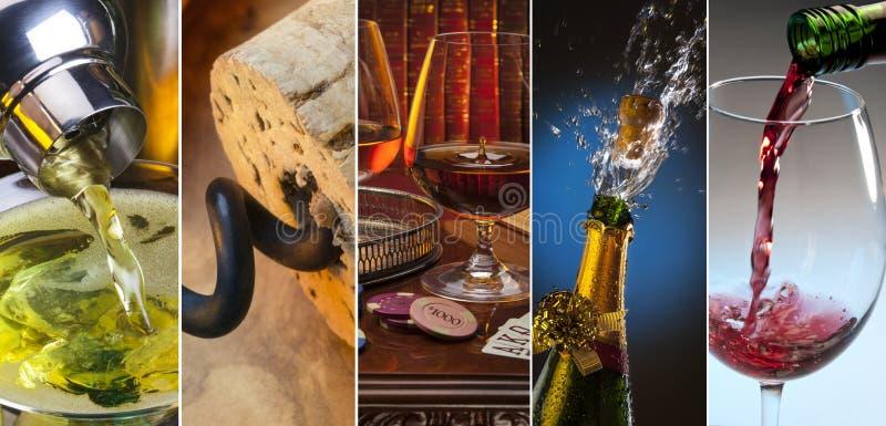 Alcoholische dranken royalty-vrije stock afbeelding
