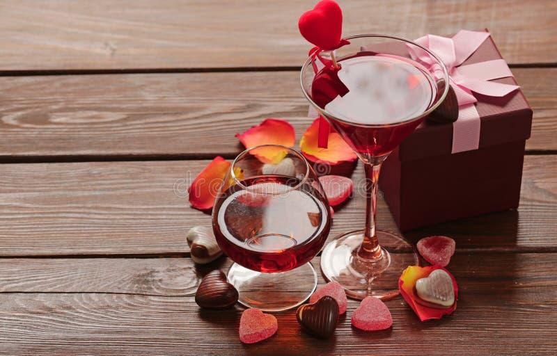 Alcoholische dranken voor de feestelijke partij royalty-vrije stock foto
