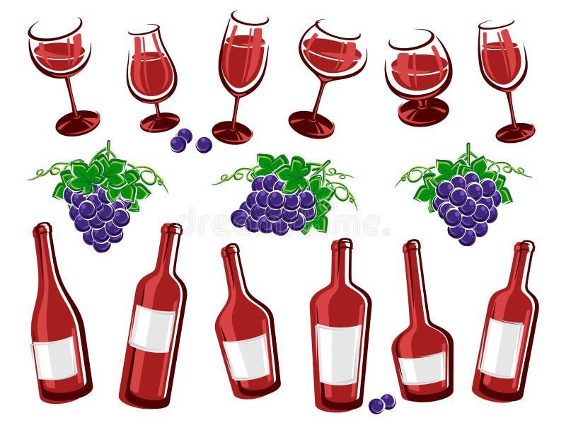 Alcoholische glasinzameling Vector stock illustratie