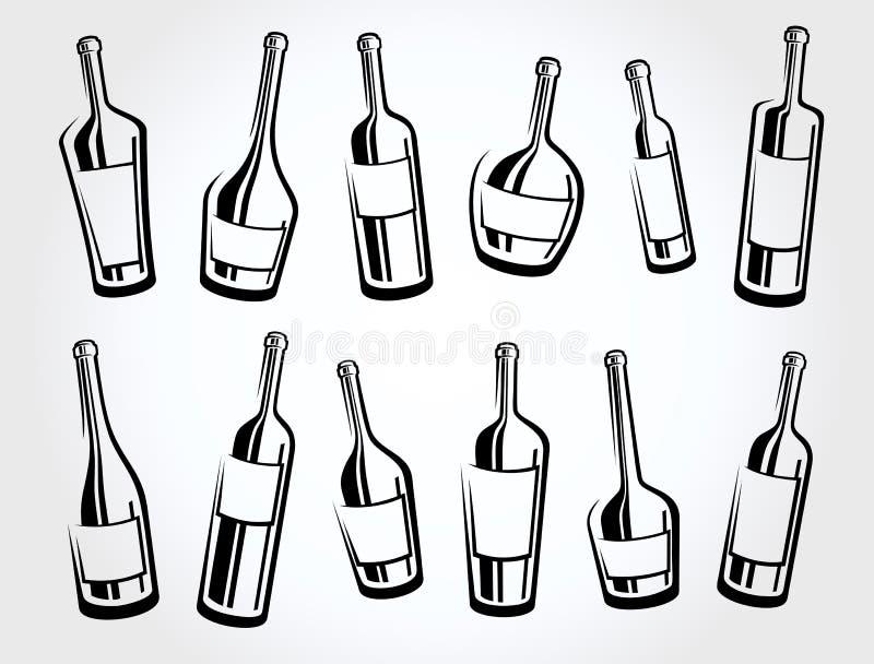 Alcoholische glasinzameling Vector vector illustratie