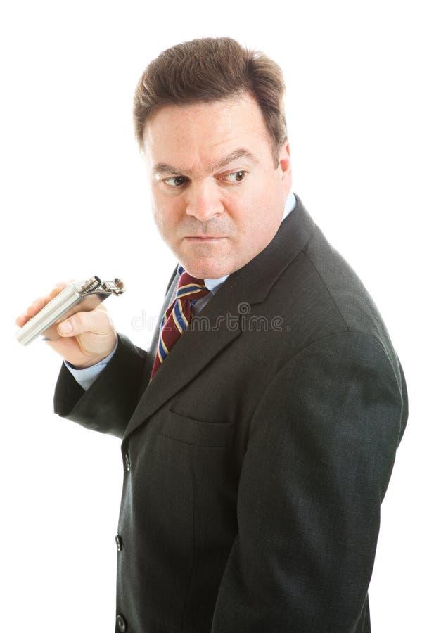 Alcoholische zakenman royalty-vrije stock fotografie