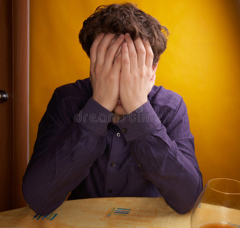 Download Alcoholism stock photo. Image of upset, alcoholic, drinking - 5941558
