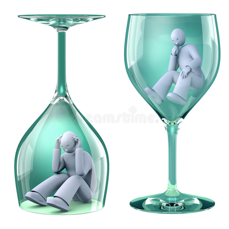 Download Man in glass stock illustration. Illustration of addiction - 30063549