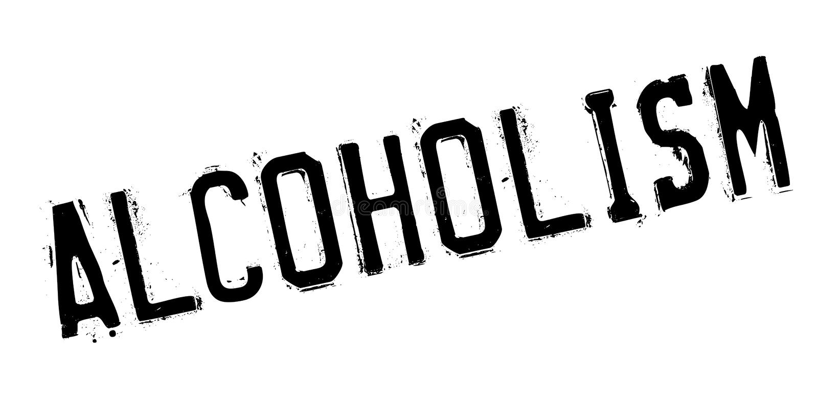 Alcoholism rubber stamp. Grunge design with dust scratches. Effects can be easily removed for a clean, crisp look. Color is easily changed royalty free illustration