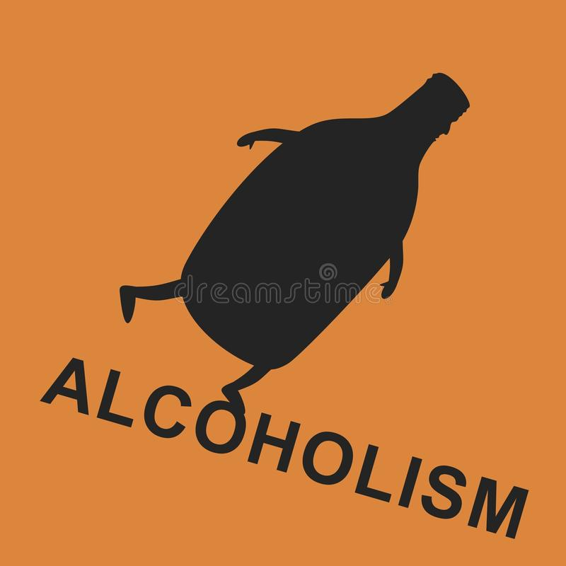 Alcoholism. Is way down. Vector format royalty free illustration