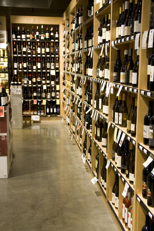 Alcoholslijterij stock foto