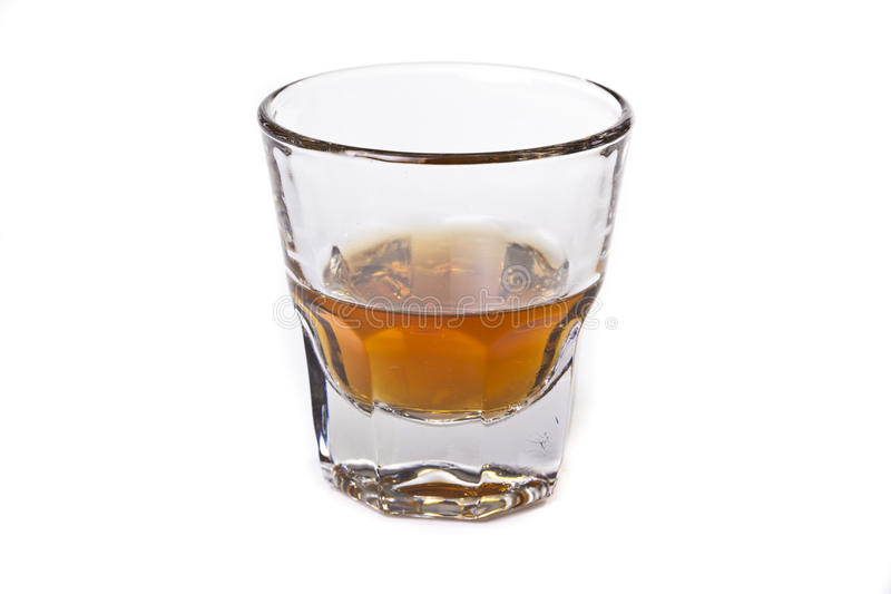 Alcool. Wisky glass isolated on white stock photos