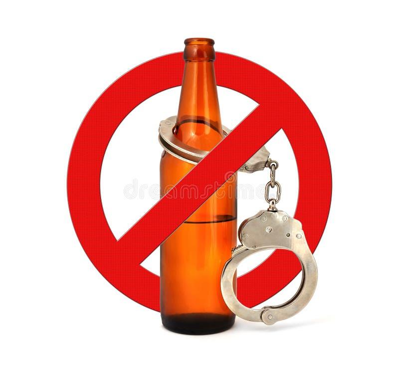 Alcool d'arrêt de signe image stock